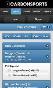 Mobile betting bookmaker Carbonsports