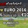 Best Euro 2016 bonus – Betdistrict exclusive – 200% up to 100 Eur at Ohmbet