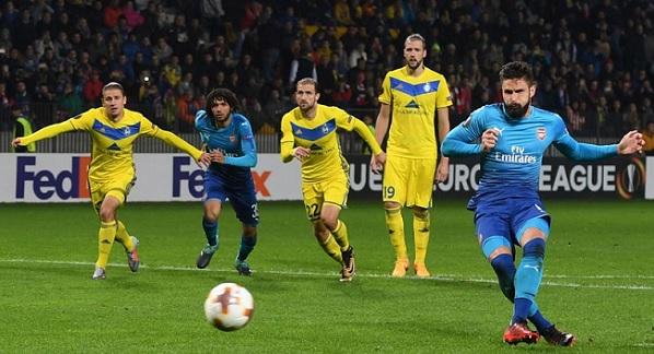 Arsenal BATE Borisov prediction