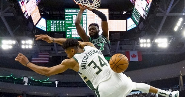 Jaylen Brown Giannis poster