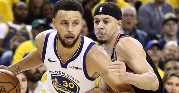 Steph Curry Seth Curry Warriors Blazers Western Conference finals