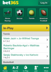 Mobile betting bookmaker Bet365