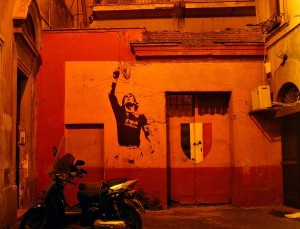 Totti Scudetto painting house