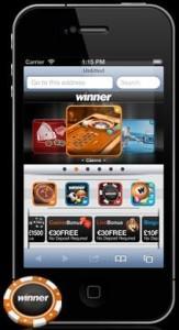 Mobile betting bookmaker Winner