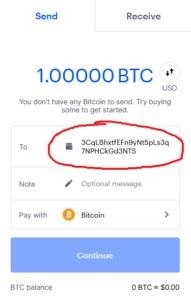 coinbase send